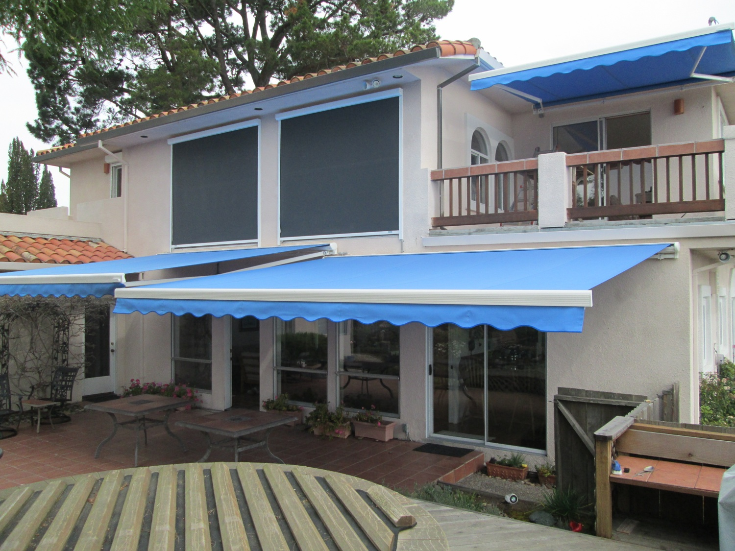 ... Shutters Facility In San Jose, With Premium Materials Shipped In From  Europe. The Retractable Awnings Are Fully Customized For Your Home With Your  Own ...