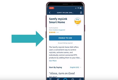 How to Connect the Somfy myLink to Amazon Alexa Routines