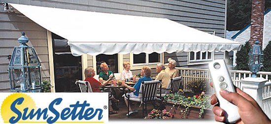 awning awnings motorized sunsetter asp shoppingcart retractable