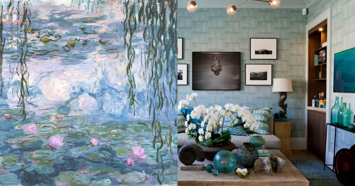Interior Inspiration Monet's Water Lilies Adorable Bedroom Suites Online Style Painting
