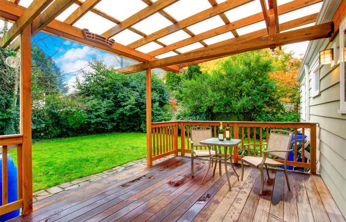 great small covered patio pergola