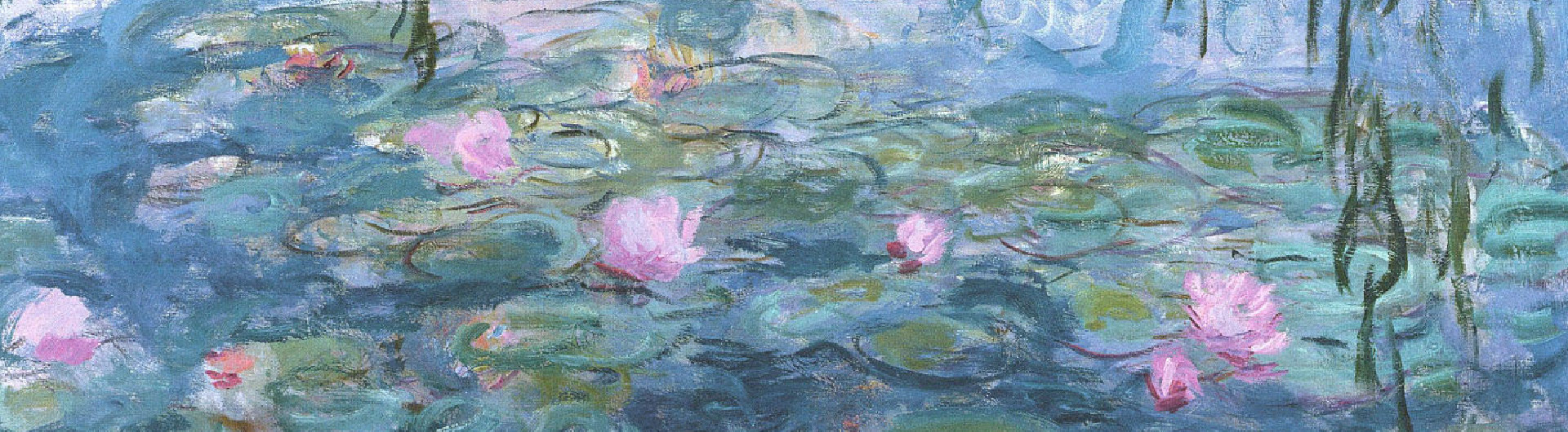 Interior inspiration monets water lilies water lilies 1916 was painted in oil but because monet used such little paint and gentle brush strokes the piece has an effect more similar to izmirmasajfo