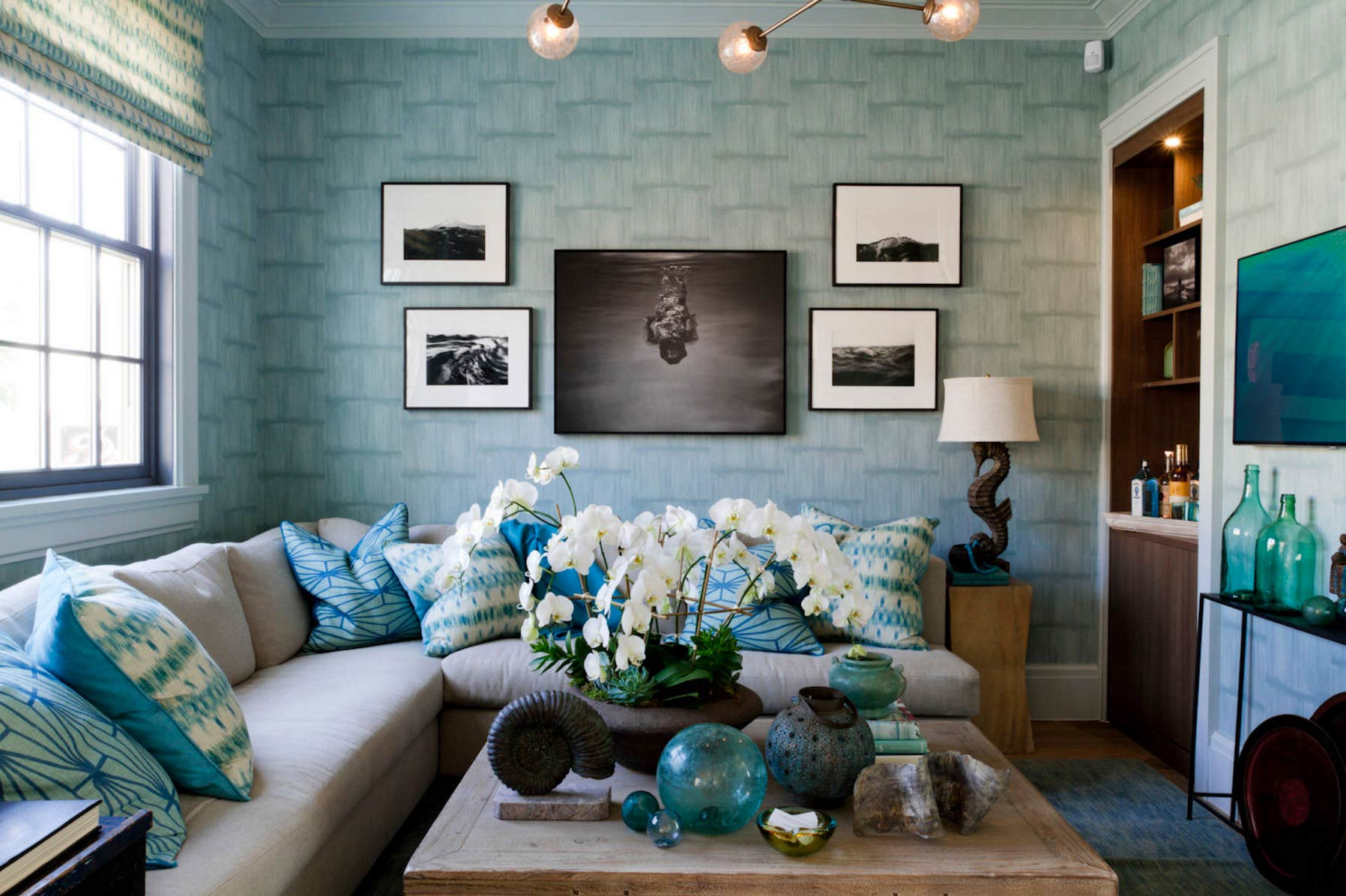 Interior inspiration monet s water lilies for The family room on main