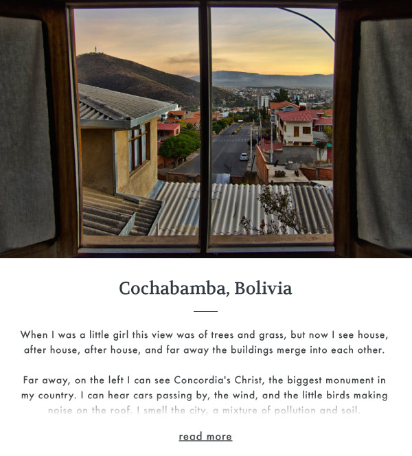 The view from Cochabamba, Bolivia