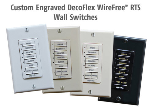 Decoflex Wirefree™ RTS Wall Switch
